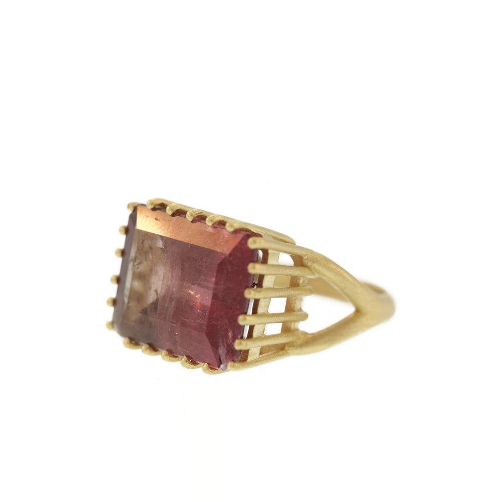 The Pink Bi-Color Tourmaline Ring