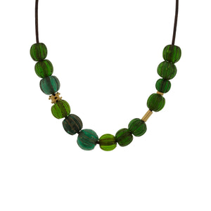 Antique Green Bead Necklace