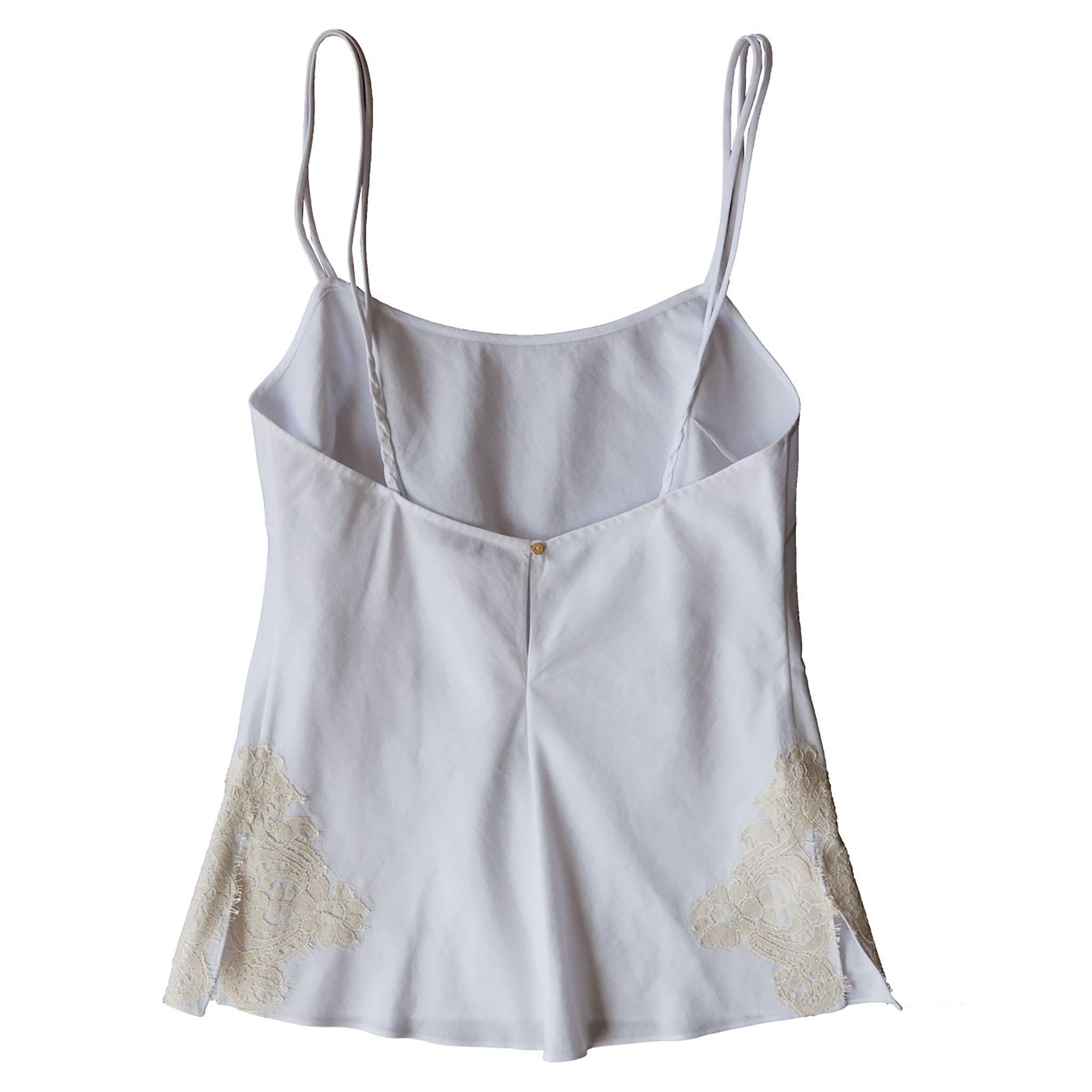 Olwen Camisole in Swiss Cotton Line Pique