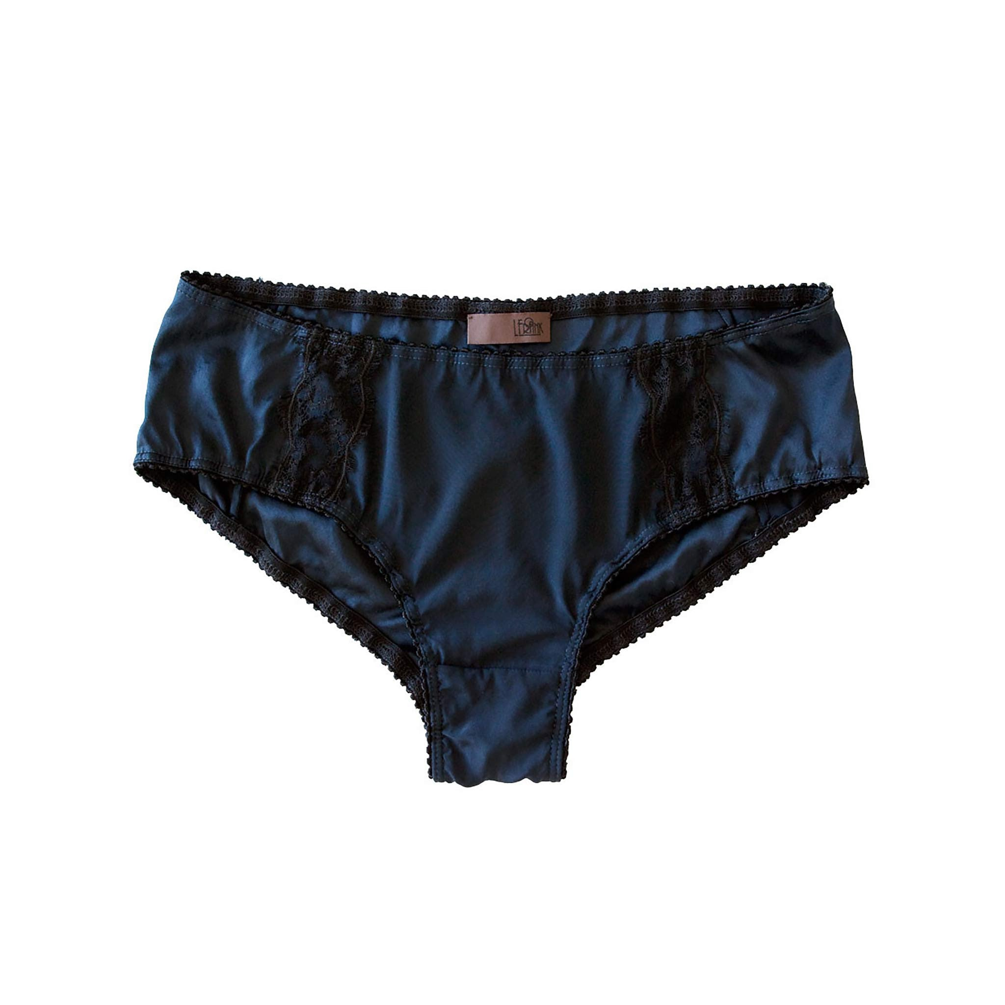 Hera Brief in Sapphire Stretch Silk Charmeuse