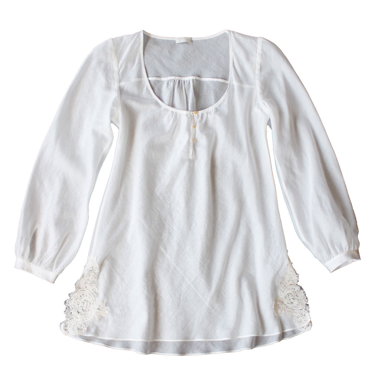 Ostara Sleep Shirt in Swiss Cotton Batiste