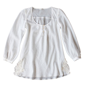 FINAL SALE - Ostara Sleep Shirt in Swiss Cotton Batiste
