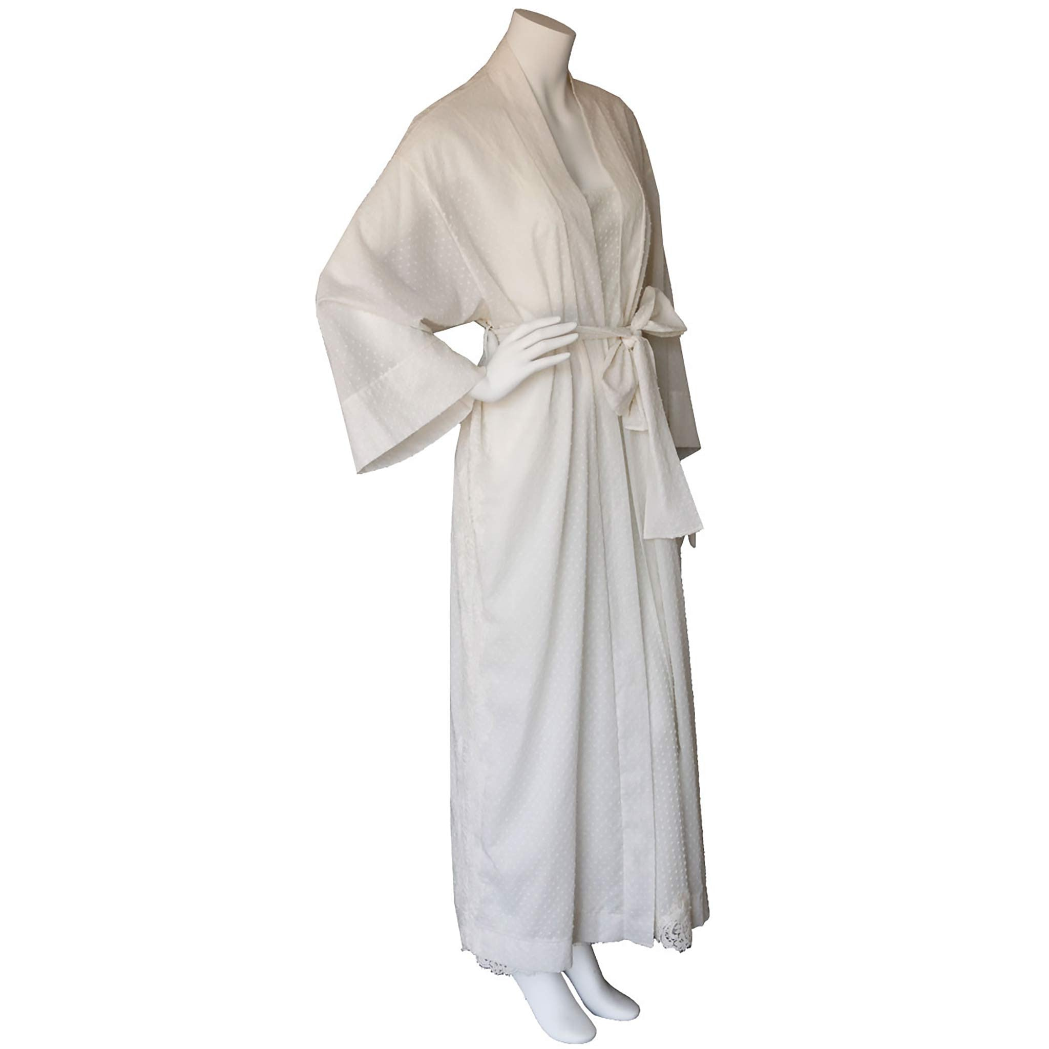 Asteria Kimono Robe in Swiss Cotton Plumetis