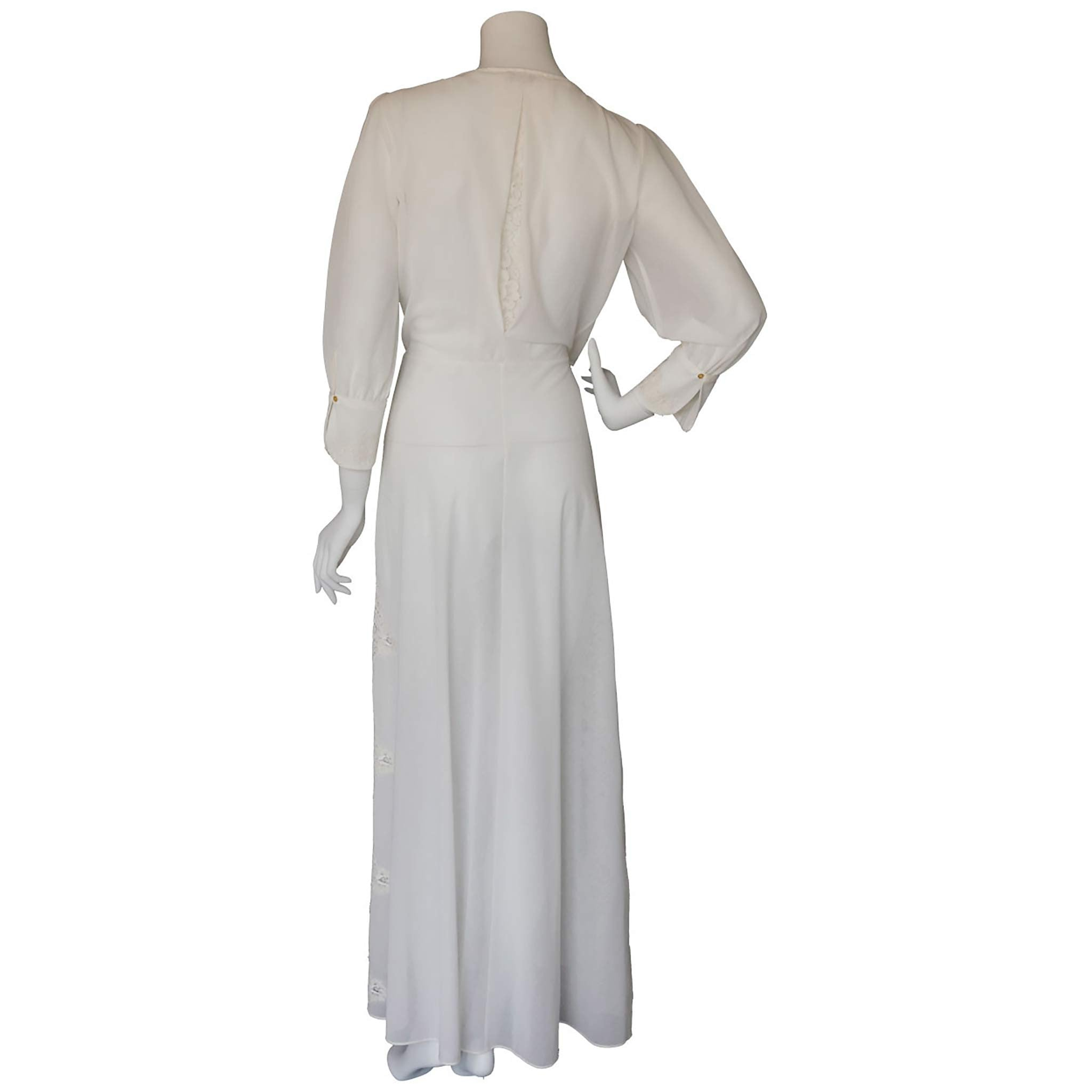 Vesta Wrap Robe in Swiss Cotton Voile