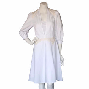 Maia Robe in Swiss Cotton Line Pique