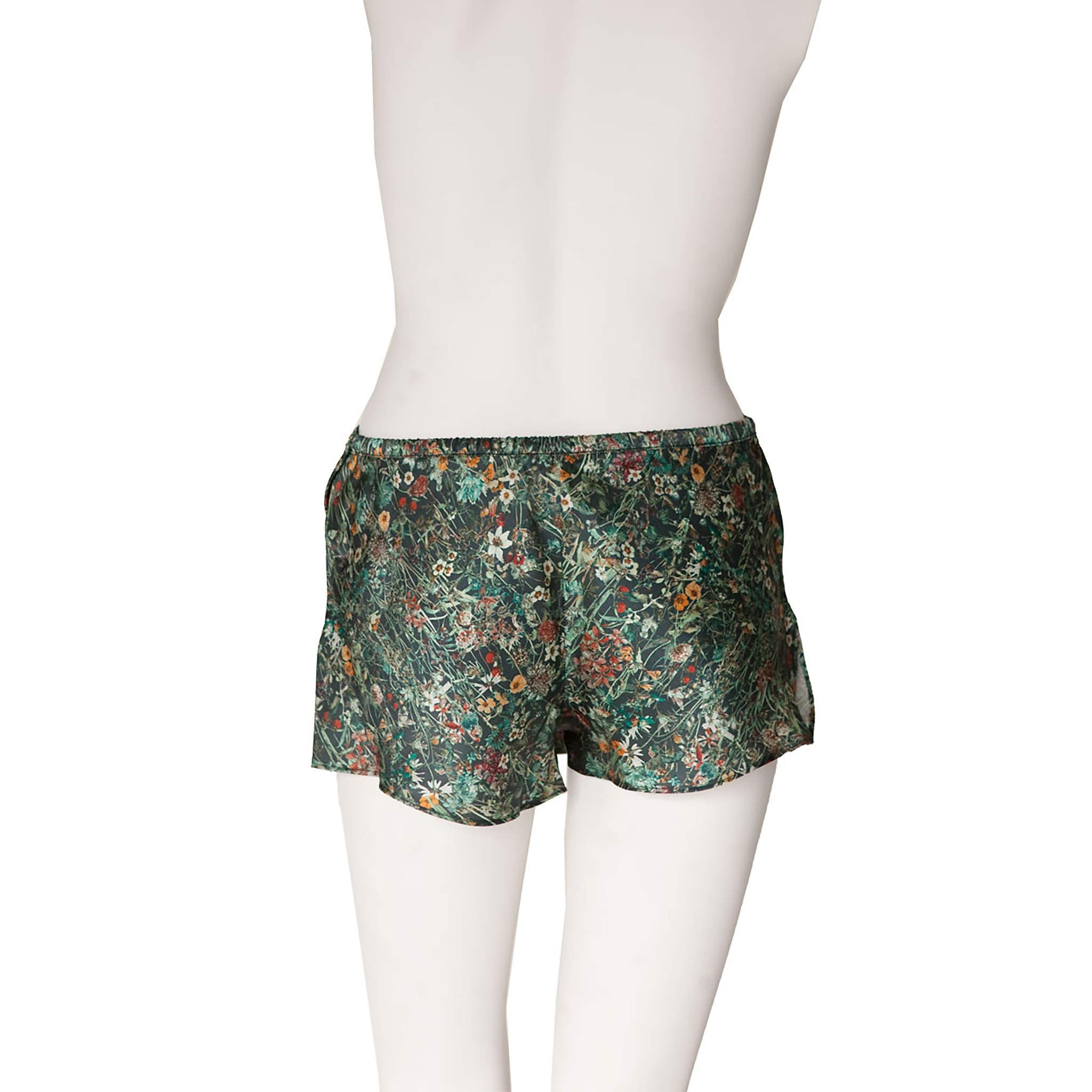 Sita Knickers in Emerald Liberty Print Silk Satin