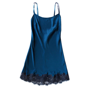 Venus Slip in Peacock Silk Charmeuse