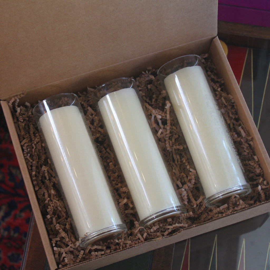 Beeswax Candle Gift Set of 3: Frankincense, Zen Garden & Rose on Main