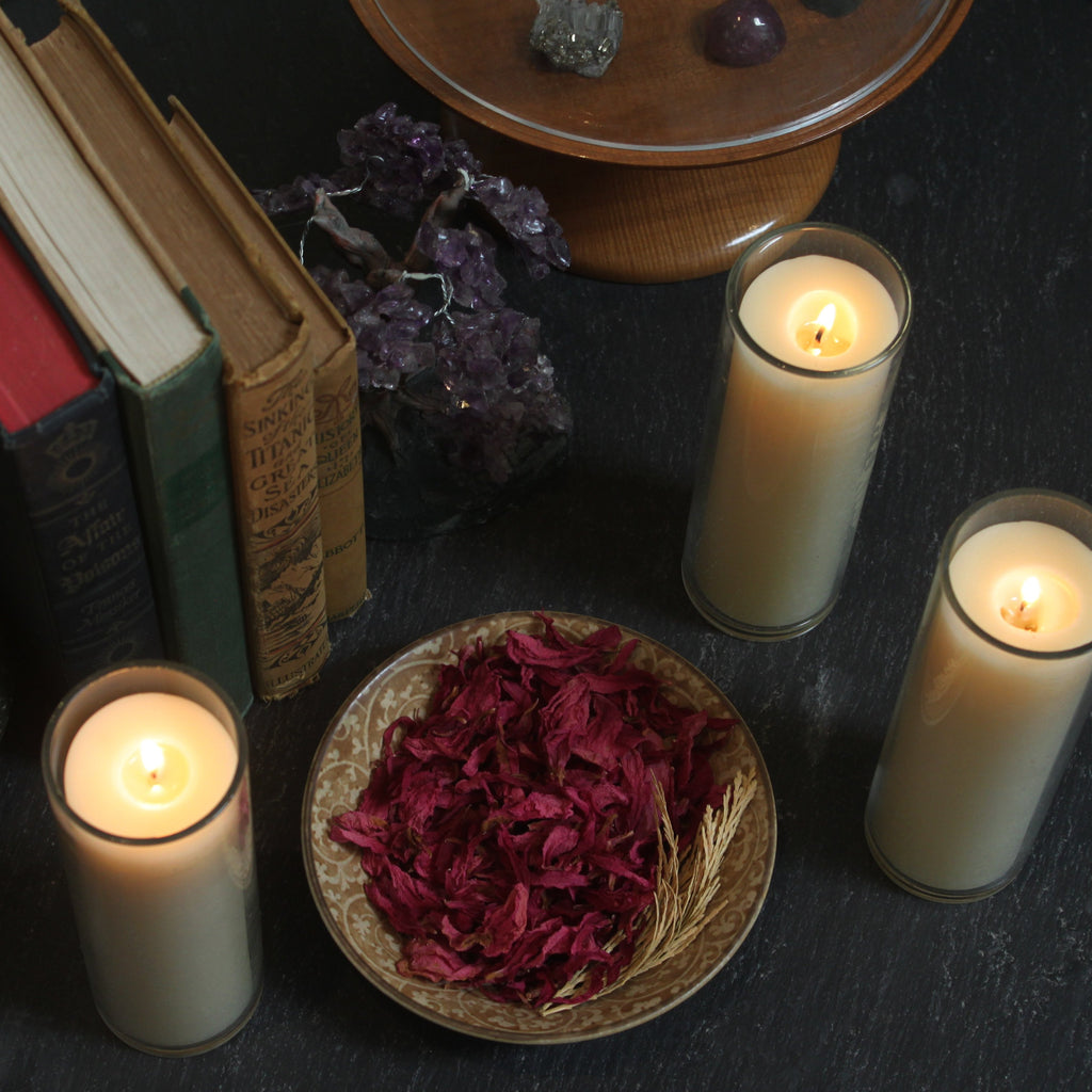 Frankincense, Lavender, Palmarosa, Patchouli, or Bergamot Beeswax Candle (for pickup or local delivery)