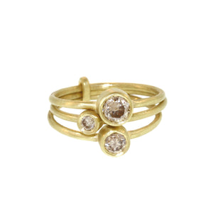 Three Part Brilliant Cut Diamond Ring