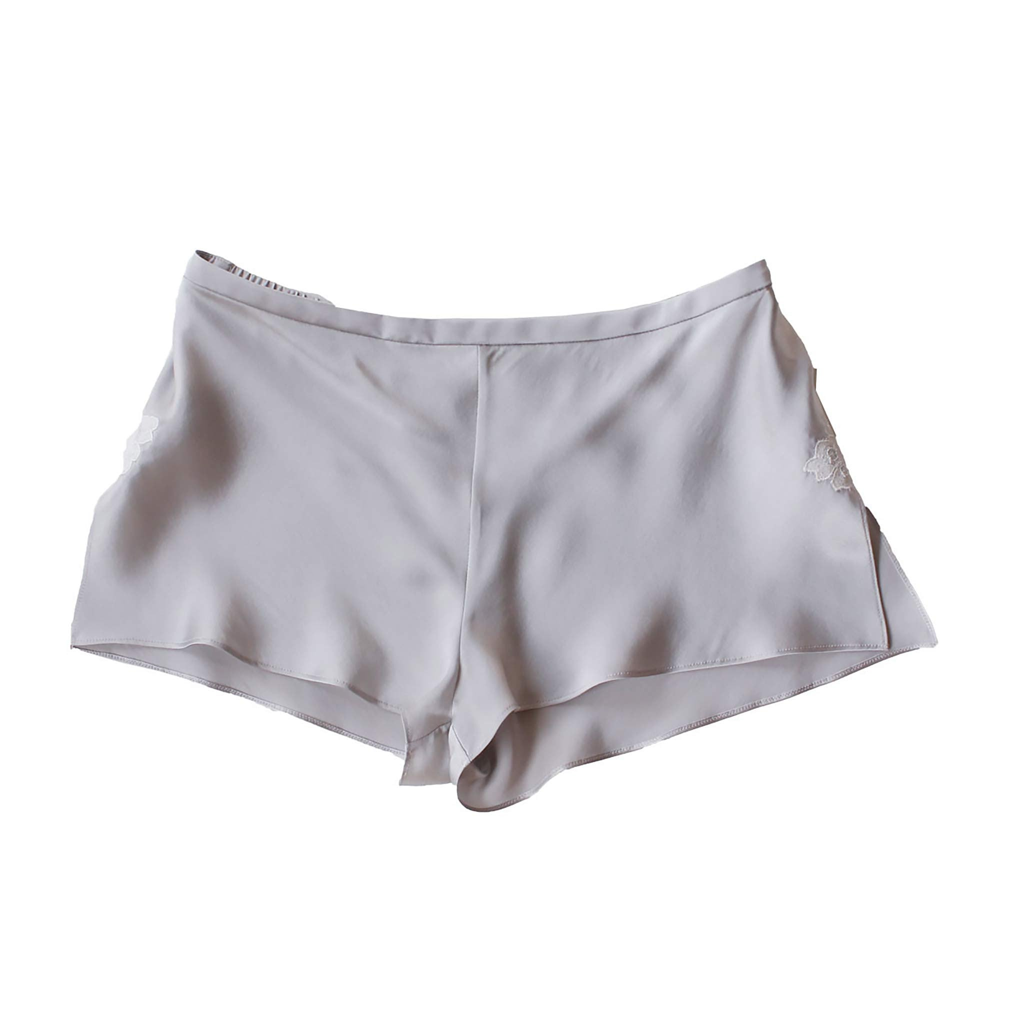 Sita Knickers in Platinum Silk Charmeuse