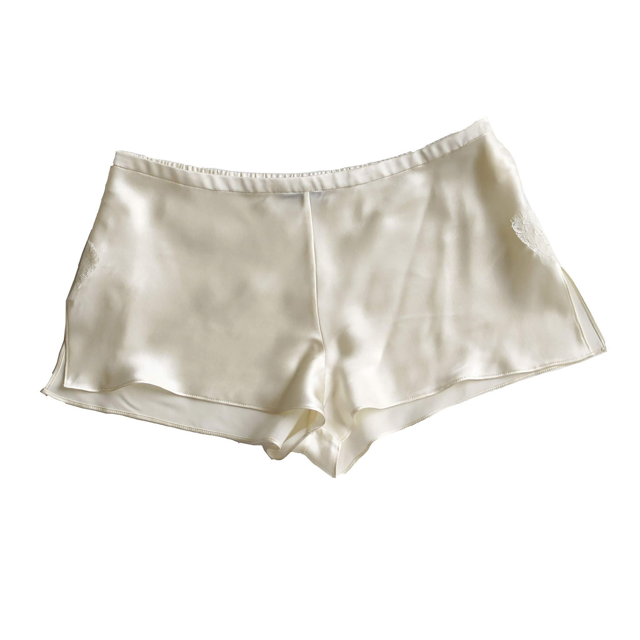 Sita Knickers in Pearl Silk Charmeuse