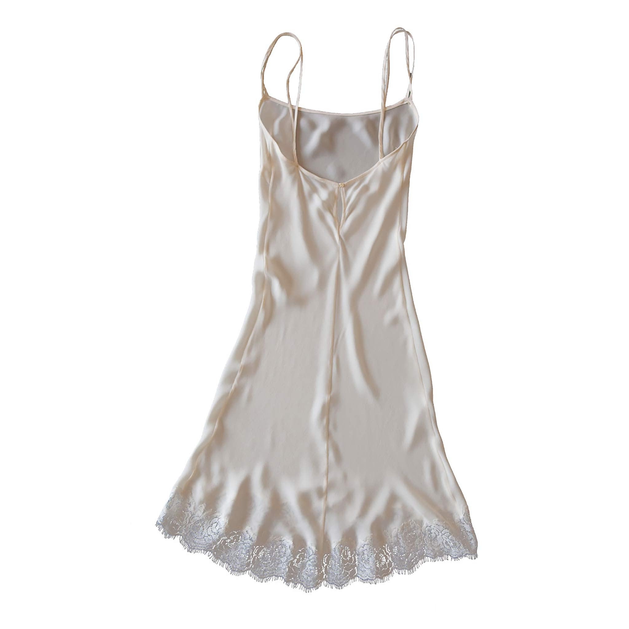 Athena Slip in Pearl Silk Double Georgette