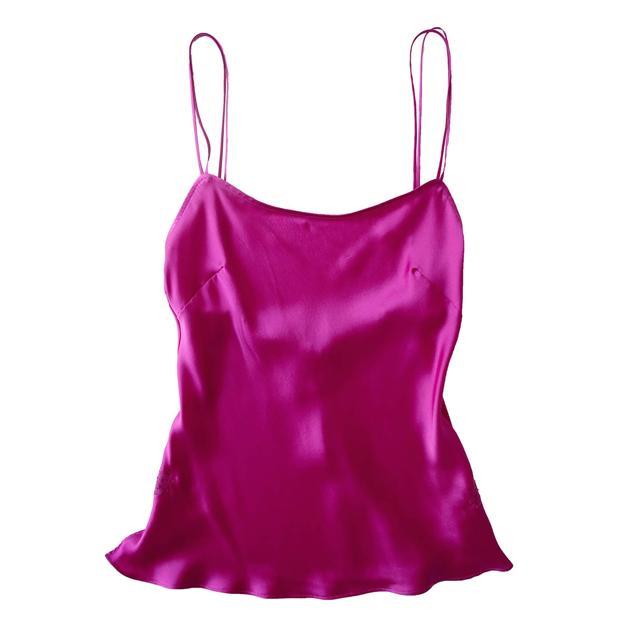 Olwen Camisole in Rubellite Silk Charmeuse