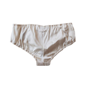 Hera Brief in Pearl Stretch Silk Charmeuse