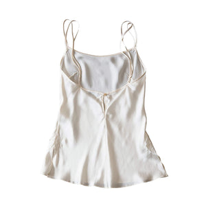 Olwen Camisole in Pearl Silk Charmeuse