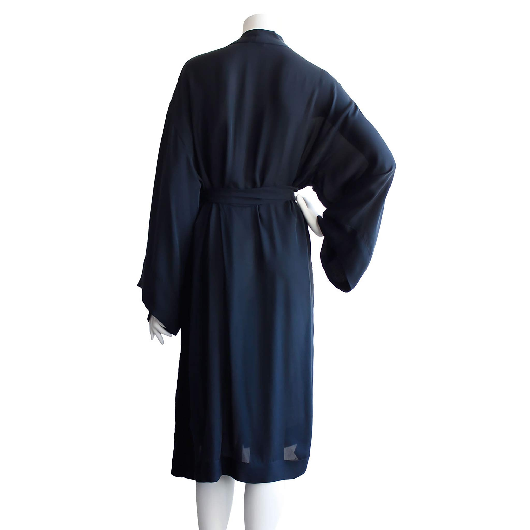 Selene Dressing Gown in Sapphire Double Georgette