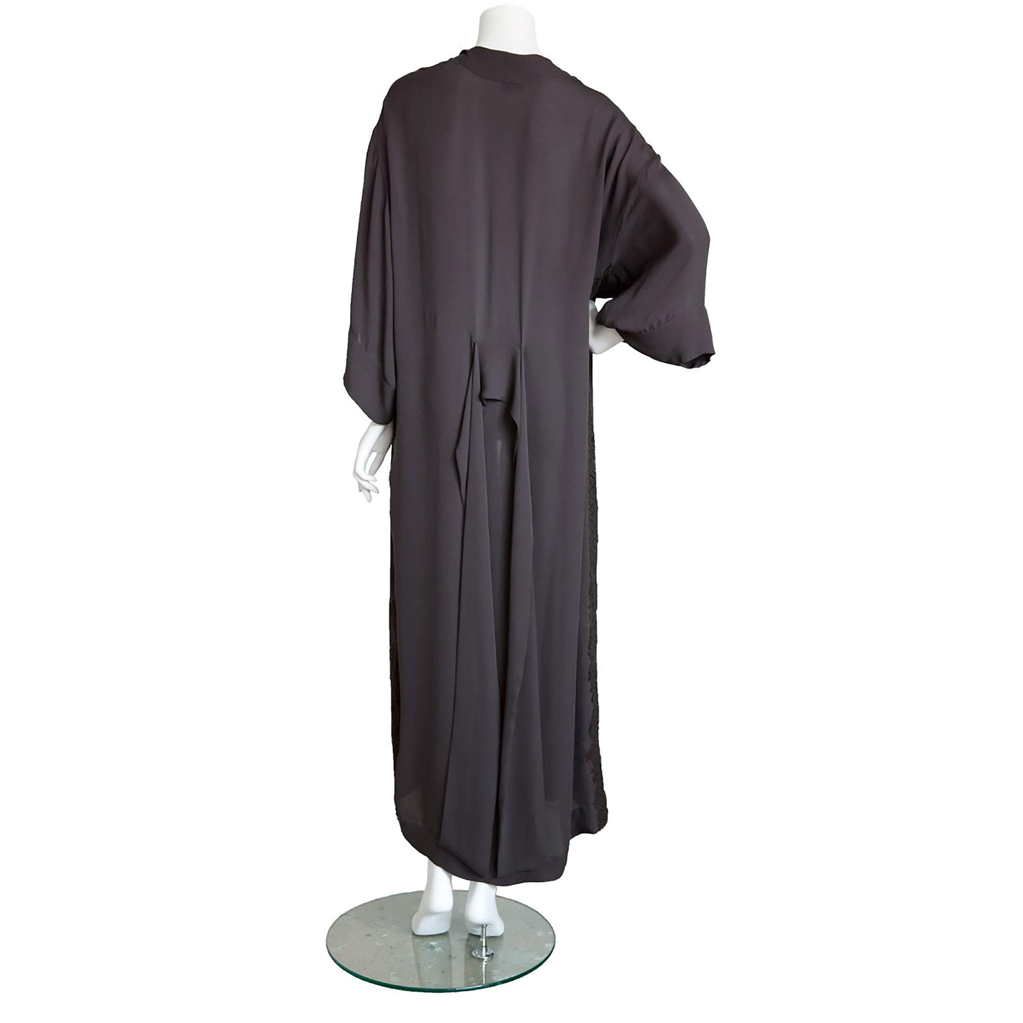 489a3b14e6 Asteria Dressing Gown in Diamond Slice Double Georgette with Lace ...