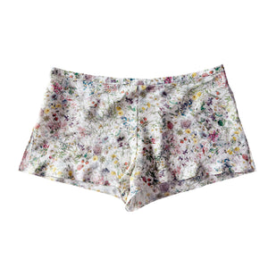 Sita Knickers in Oyster Wildflowers Liberty Print Silk Crepe de Chine- FINAL SALE