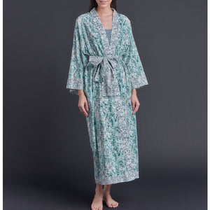 One of Kind Asteria Kimono Robe in Tiers of Light Liberty of London Cotton Tana Lawn