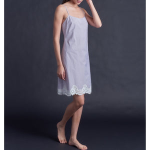 Athena Slip in Italian Plaid Cotton