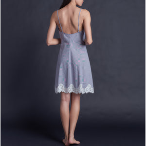 Athena Slip in Italian Check Cotton