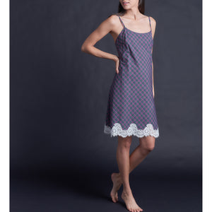Athena Slip in Italian Purple Plaid Cotton