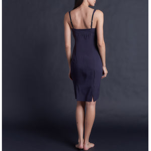 Laetitia Slip in Aubergine Stretch Silk Charmeuse