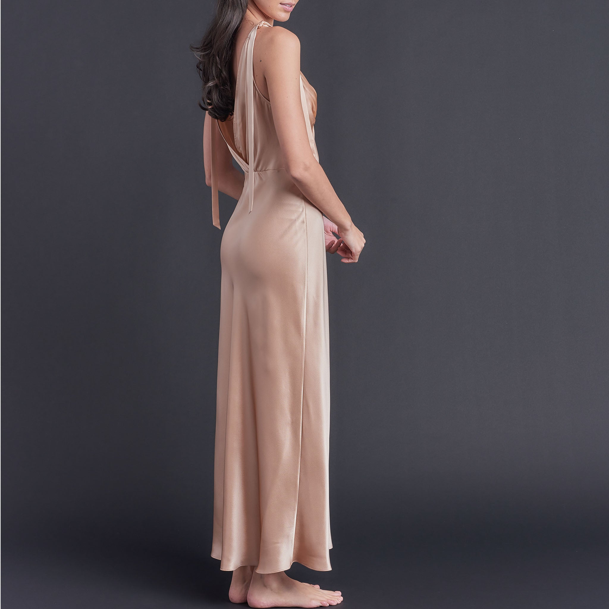 Ava Silk Charmeuse Slip in Blush