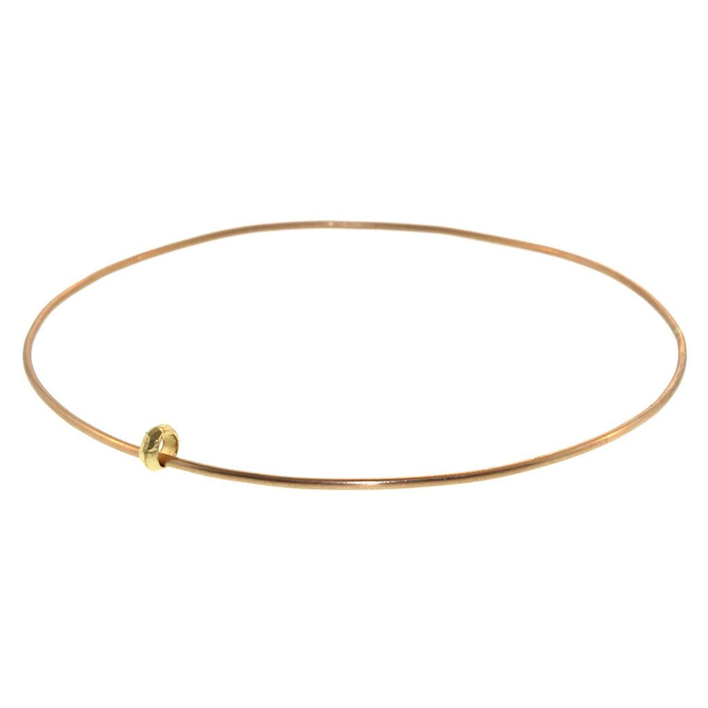Thin Single Bead Bangle