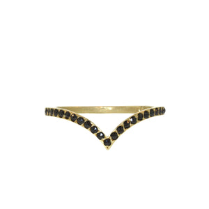 The Black Diamond Phoebe Ring