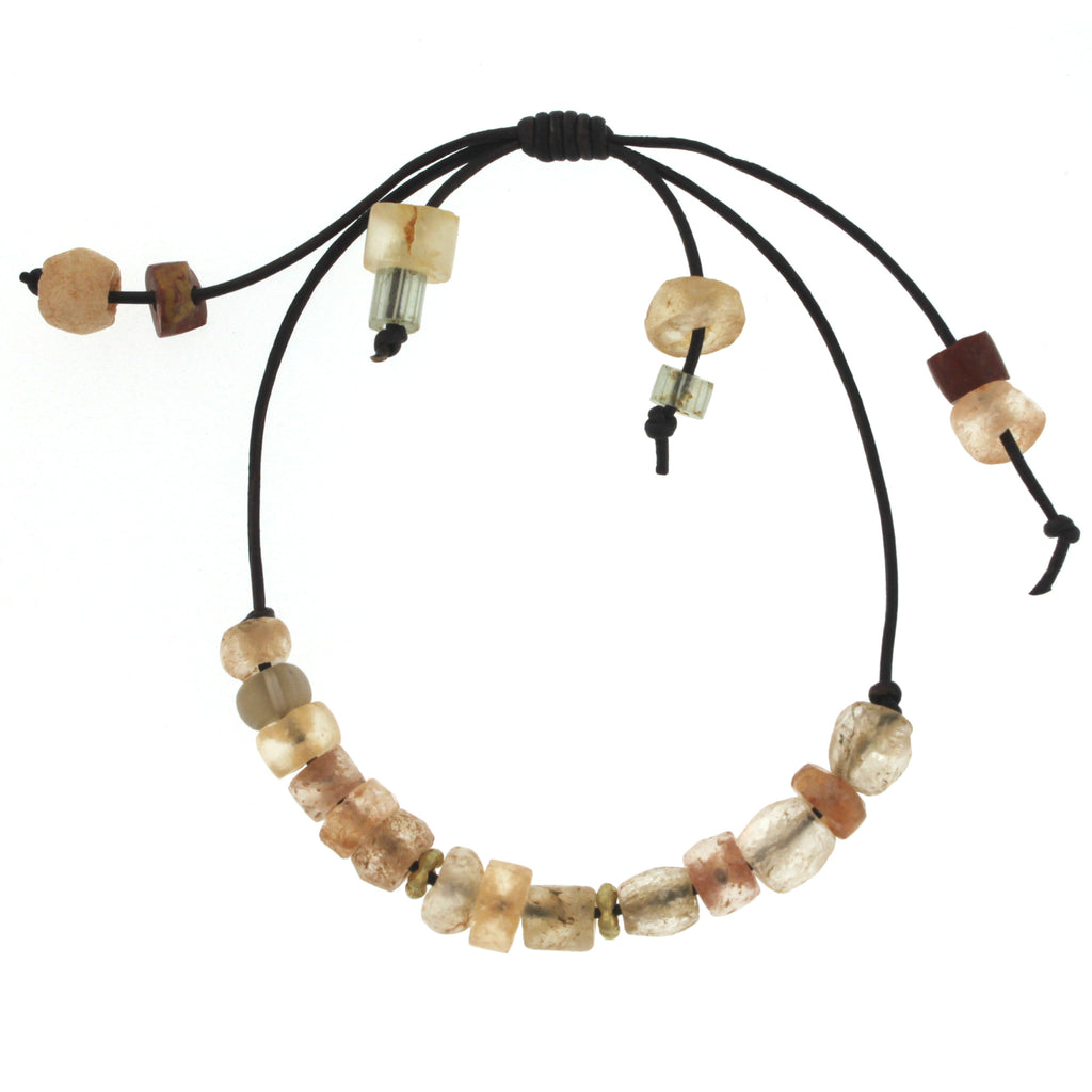 Mali Quartz Beaded Bracelet with Gold