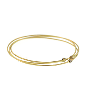 The Three Part Entwined Bangle with Pavé Diamond Beads