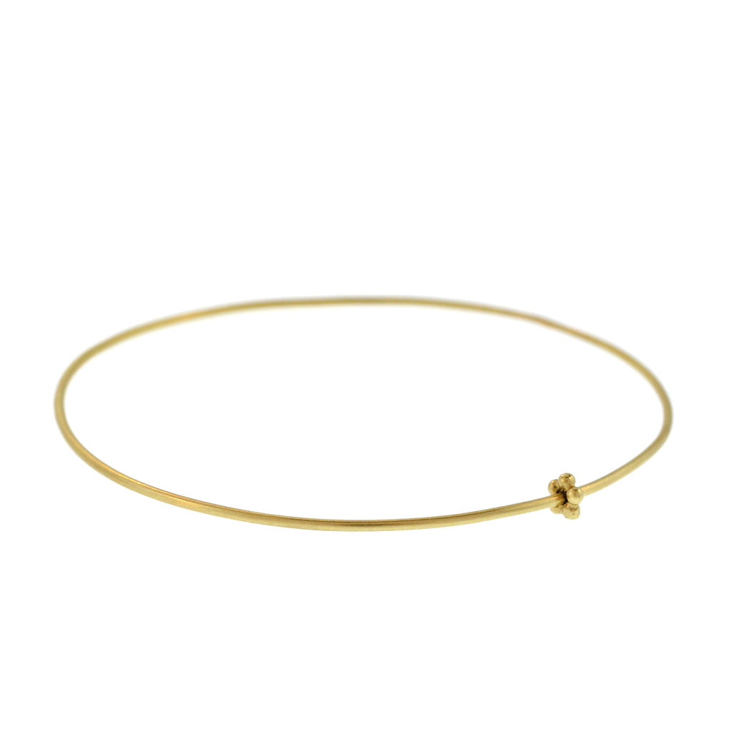 The Gold Bangle with Flower Bead