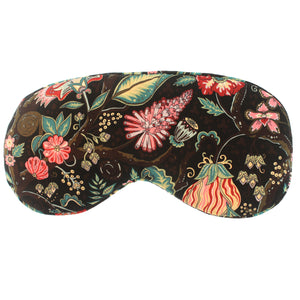 Hypnos Silk Sleep Mask in Brown Tree of Life Liberty Print