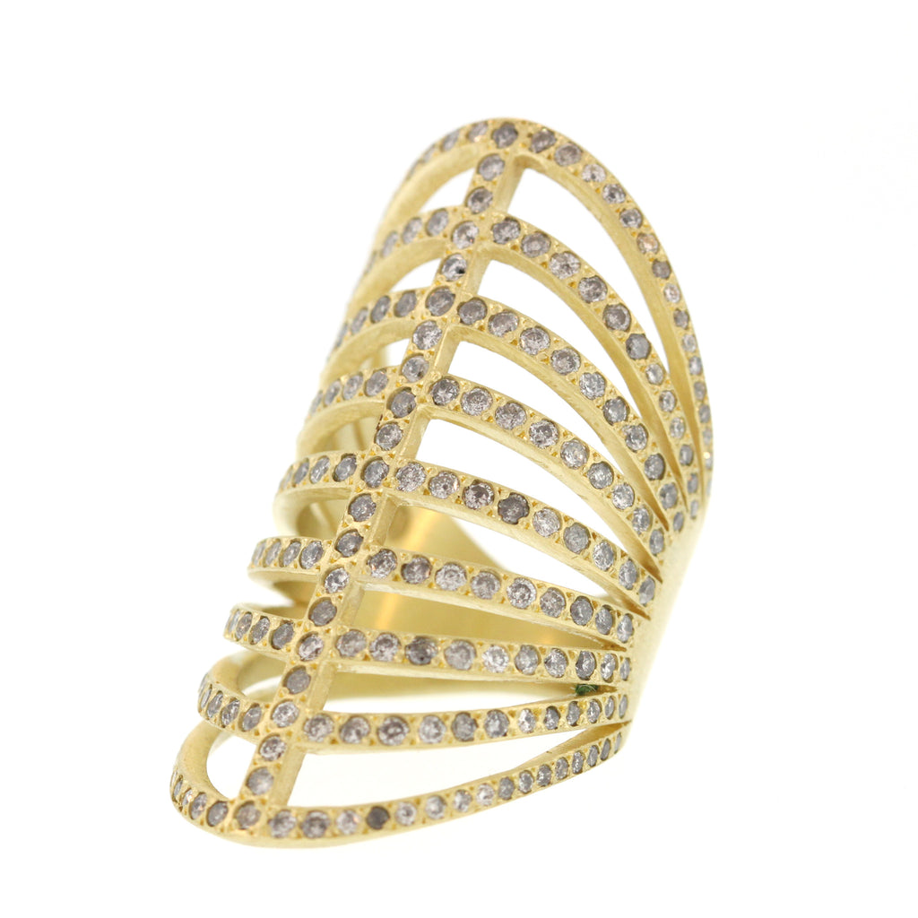 The Long Diamond Corset Ring