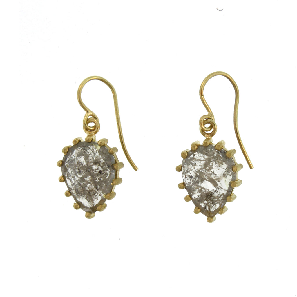 The Teardrop Diamond Slice Earring