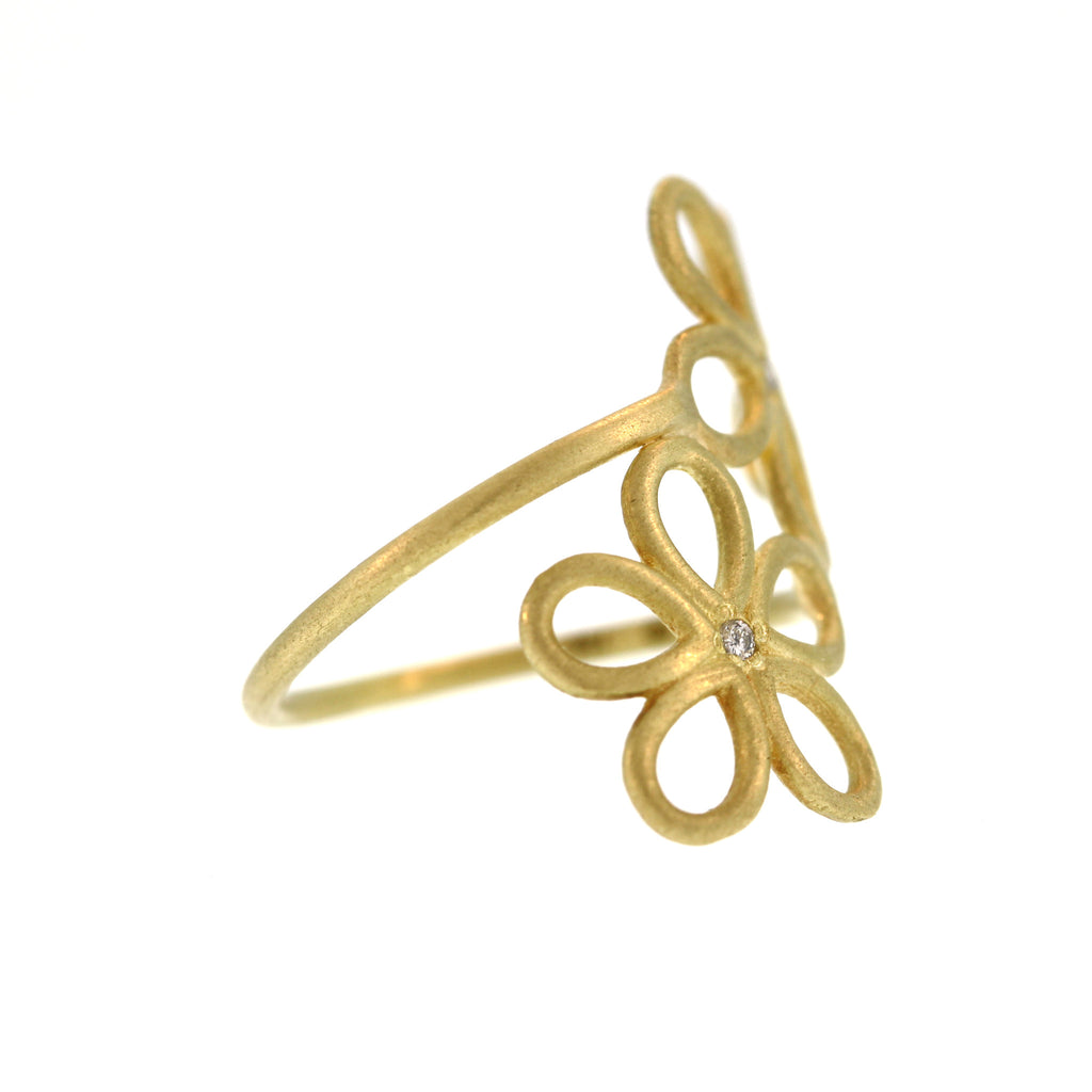 The Double Flower Wrap Ring