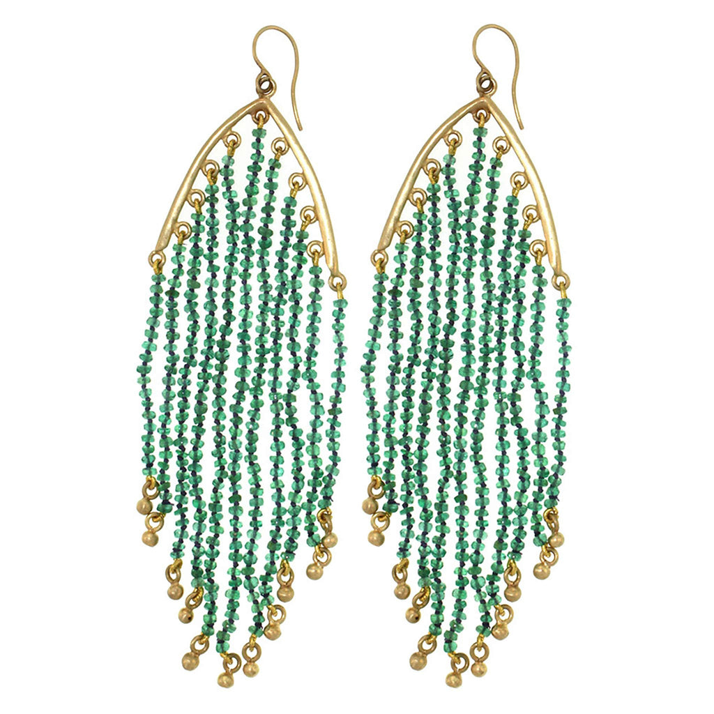 The Emerald Feather Earring