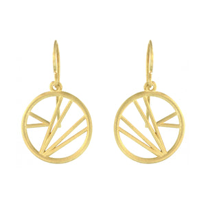The Geometric Line Hoop Earring