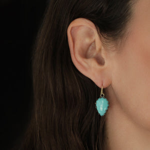 The Turquoise Cabochon Earring
