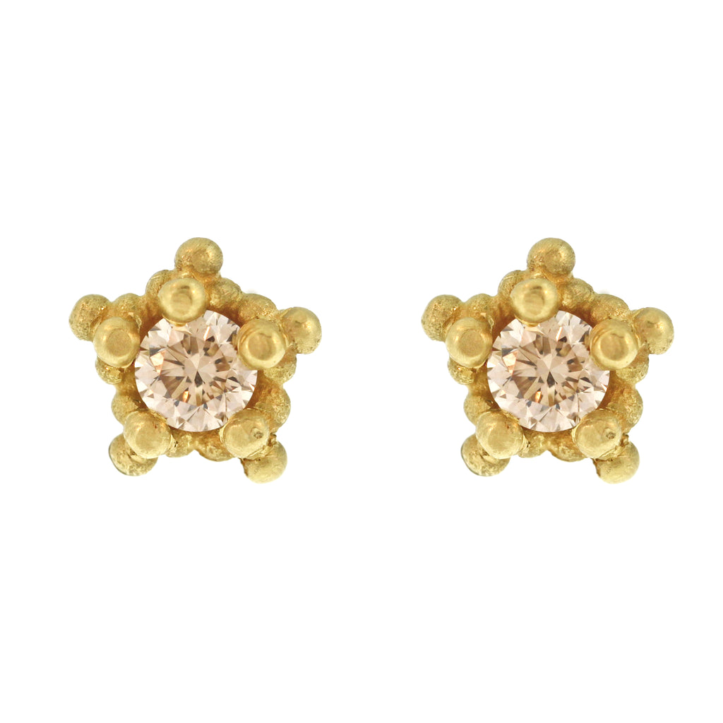 The Diamond Bali Bead Studs