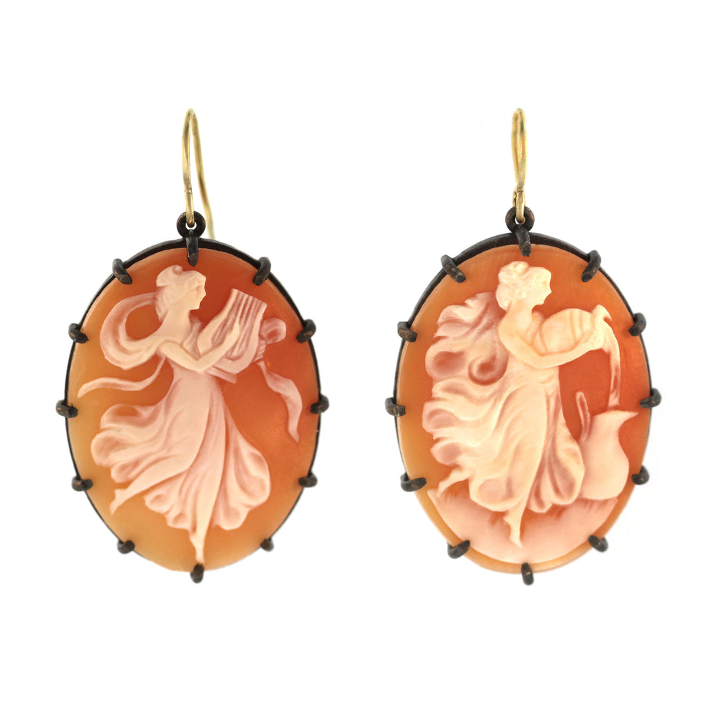 The Iris + Terpsichore Cameo Earring