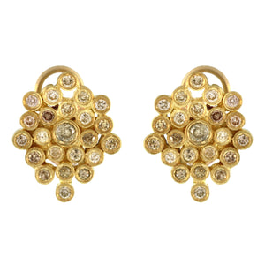 The Diamond Honeycomb Cluster Earring