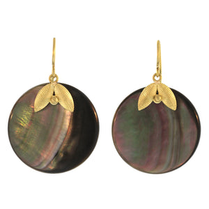 The Abalone Lotus Leaf Earring