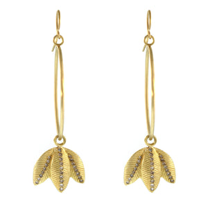 The Diamond Stripe Lotus Leaf Hoop Earring
