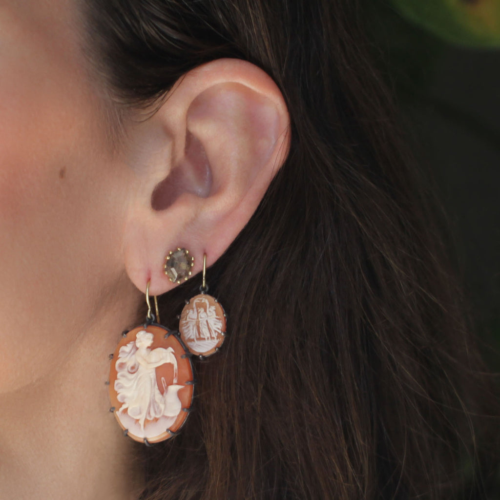 The Three Muses Cameo Earring