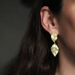 The Double Holly Leaf Earring