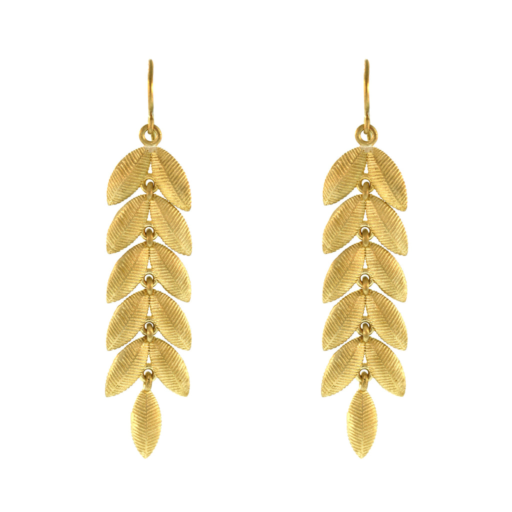 The Lotus Leaf Dangle Earrings