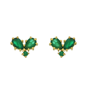 The Emerald Heart Stud